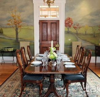 室内手绘墙壁画装修效果图