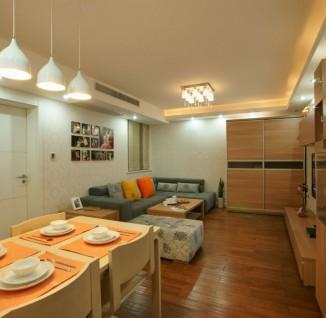 现代简约40平米小户型客厅餐厅一体效果图 - 4 - 装修