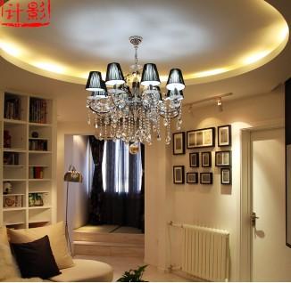 60平米小户型客厅圆形吊顶造型设计(10/10)