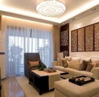 中式风格60平米小户型客厅装修效果图(3/3)