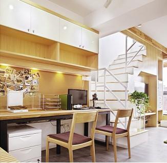 欧式风格复式楼书房装修效果图 - 5 - 装修图库 - 九