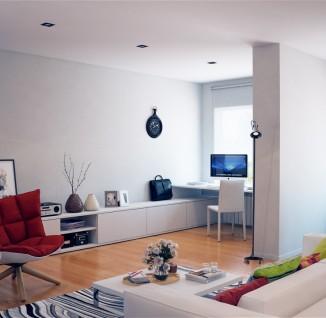 后现代风格40平米小户型客厅抽象画效果图 - 2 - 装修