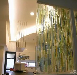 卫生间艺术玻璃隔断效果图 - 8 - 装修图库 - 九正网