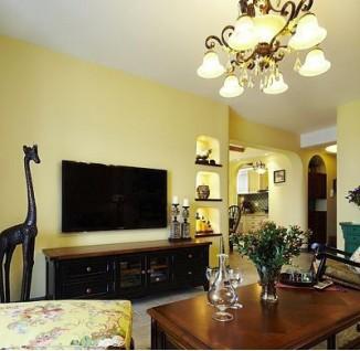 30平米小戶型公寓客廳與臥室窗簾隔斷裝修效果圖欣賞