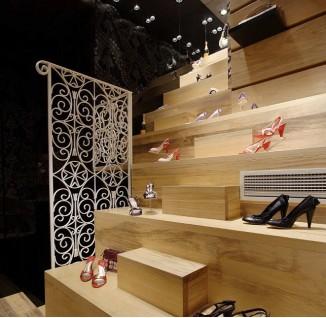 个性鞋店装修设计图