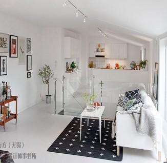 北欧风格小户型阁楼客厅装修效果图(3/3)