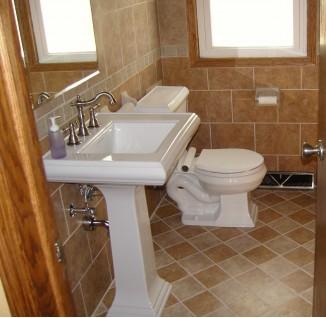 简约卫生间地板砖效果图
