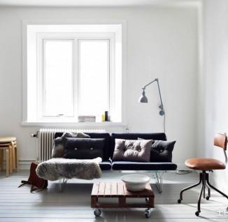 最新北欧风格小户型公寓客厅装修效果图.(6/6)
