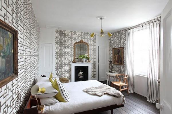 创意灯具装饰 春天花花伦敦公寓装修效果图图片