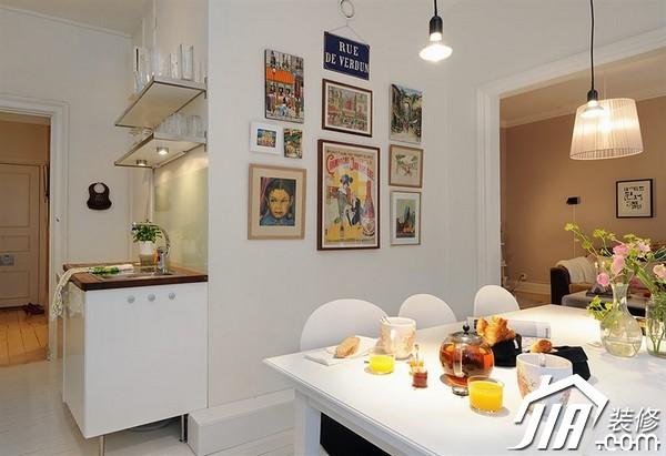 餐桌墙装修效果图餐桌装修图-雅思装饰画 北欧风格阳光暖房 宅人夫妻高清图片