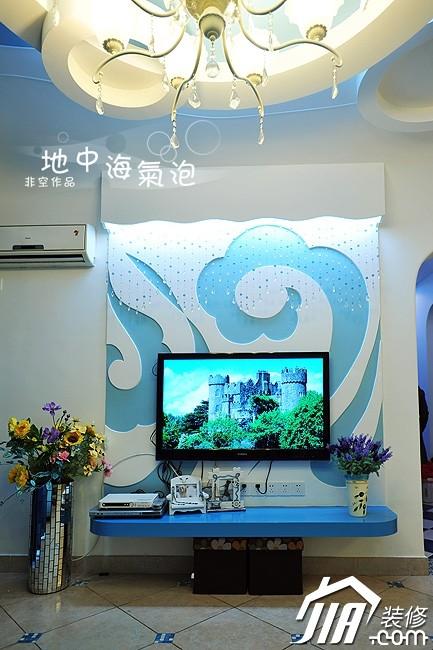 家居装修背景墙海洋电视背景墙实物装修图图片3