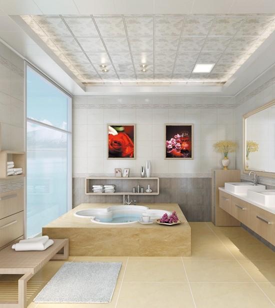 现代华帝集成吊顶 独造惬意卫浴空间装修效果图