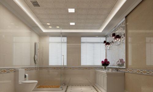8款华帝集成吊顶 清新伴绝白纯净卫浴装修效果图