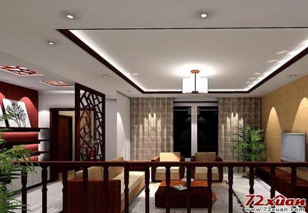 唯美中式客厅装修效果图装修效果图