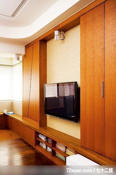 客厅,投影幕布设计,造型电视主墙,收纳柜,造型天花板