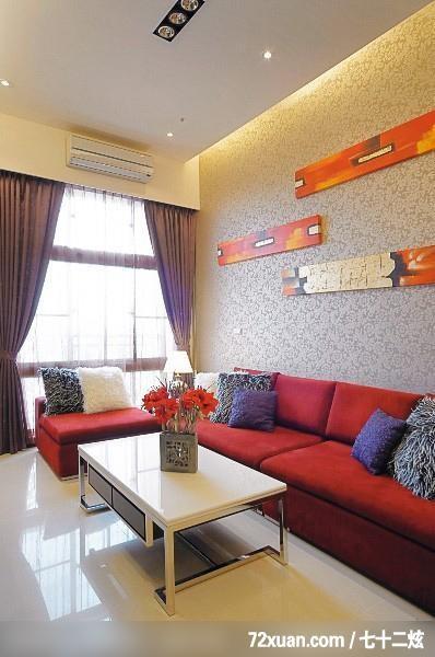 客厅/客厅,造型天花板,造型沙发背墙,冷气摆放设计,阳(10/30)