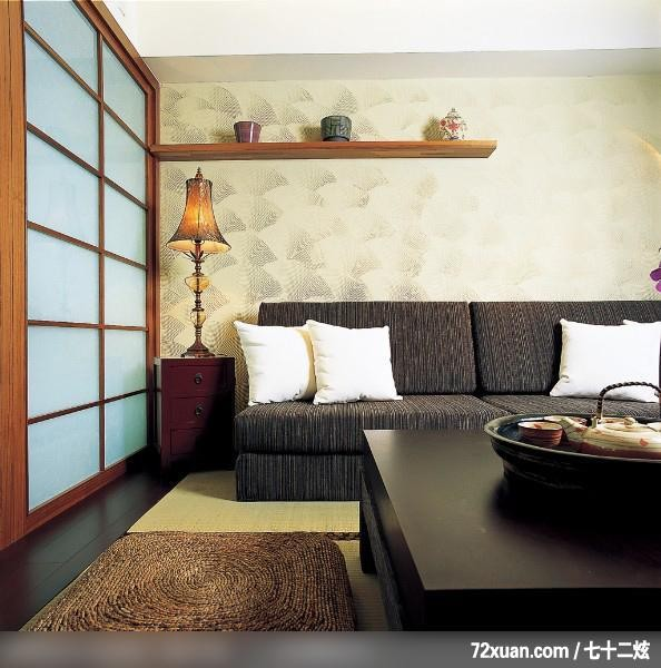 柜,拉门,造型沙发背墙,装修效果图 第2张 家居图库 九正家居网