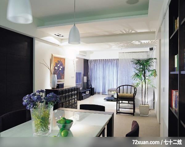 杰克文生_08,春雨时尚空间设计,周建志,餐厅,书墙,造型天花板,收纳柜