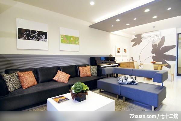 觐得空间设计,游淑慧,客厅,造型天花板,造型主墙,冷气摆放设计,造型图片