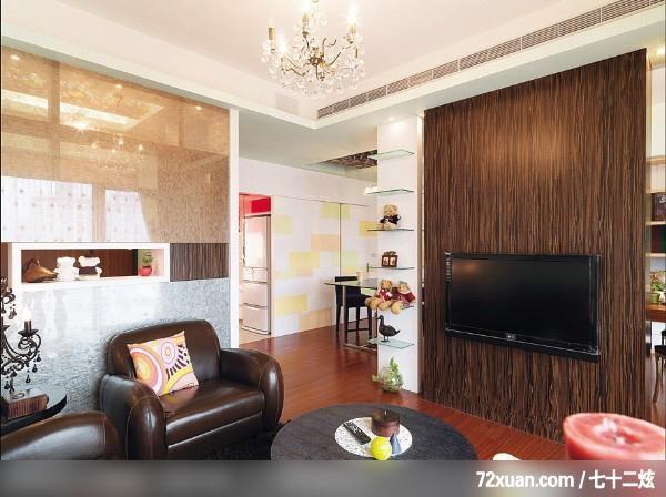 艺堂室内设计,李燕堂,客厅,冷气摆放设计,造型天花板,展示柜,隐藏门