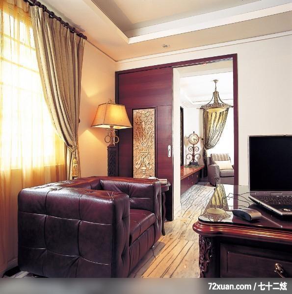 梦想的家园,北京泰吉伟邦设计公司,马豪,书房,拉门,阅读区,观景窗