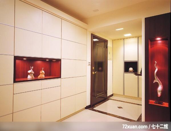 艺堂室内设计,李燕堂,玄关,展示柜,造型天花板,收纳鞋柜,造型地板