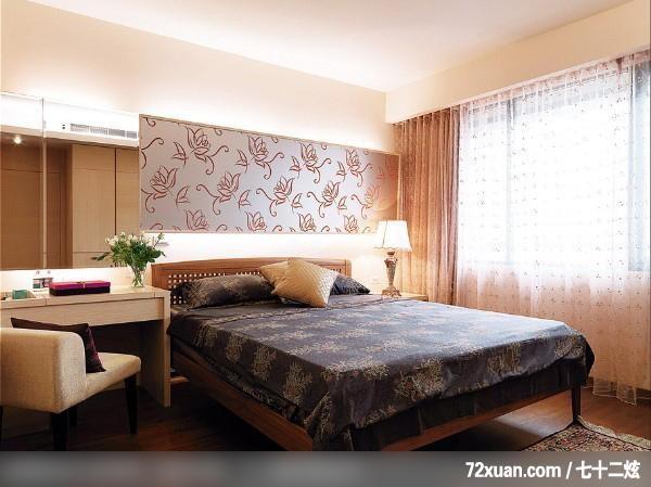 低成本中透视着奢华感,摩登雅舍室内装修,蓝永峻,卧室,造型主墙,造型