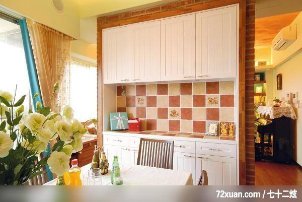 工程,黄传林,餐厅,电器收纳柜,造型天花板,冷气摆放设计,高清图片