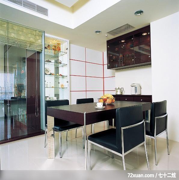 工作室,田伟,餐厅,展示柜,电器收纳柜,造型主墙,穿透设计,高清图片