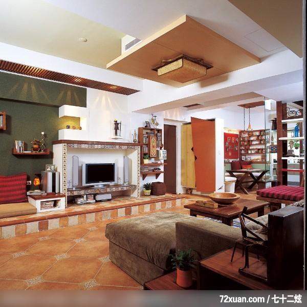 慧,客厅,收纳鞋柜,造型电视主墙,电视柜,造型天花板,装修效
