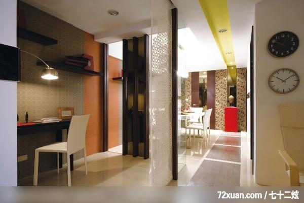 书房,阅读区,书架层板,造型天花板,背景墙,穿透设计,装修效