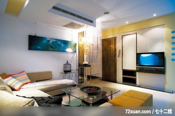 龙发,卢成峰,客厅,电视背景墙,冷气摆放设计,造型天花板,隐藏门