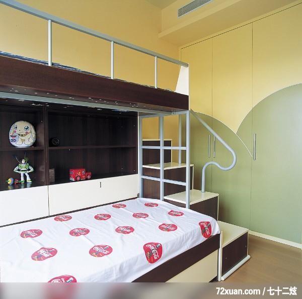 造型床组,玩具收纳柜