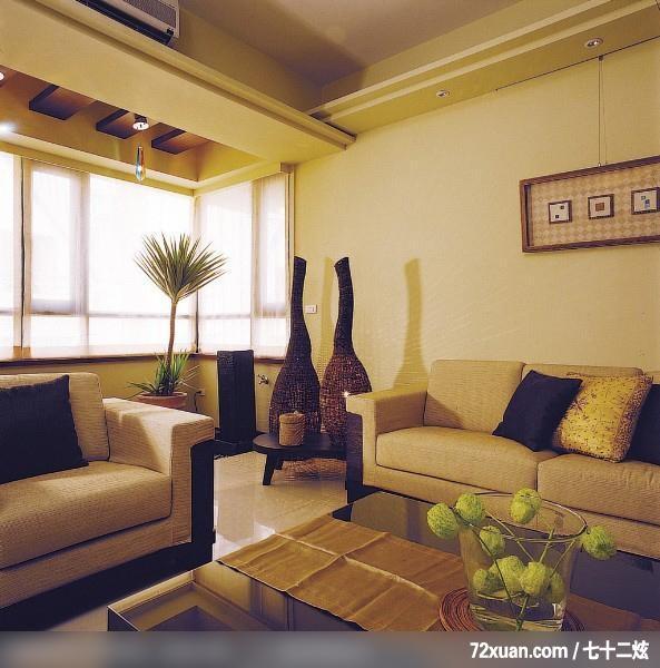 蓝永峻,客厅,冷气摆放设计,造型天花板,造型灯光,观景窗