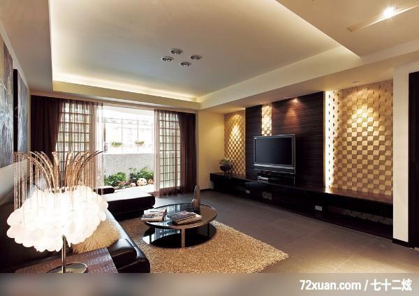 好空间即成形,摩登雅舍室内装修,蓝永峻,客厅,造型电视主墙,电视柜