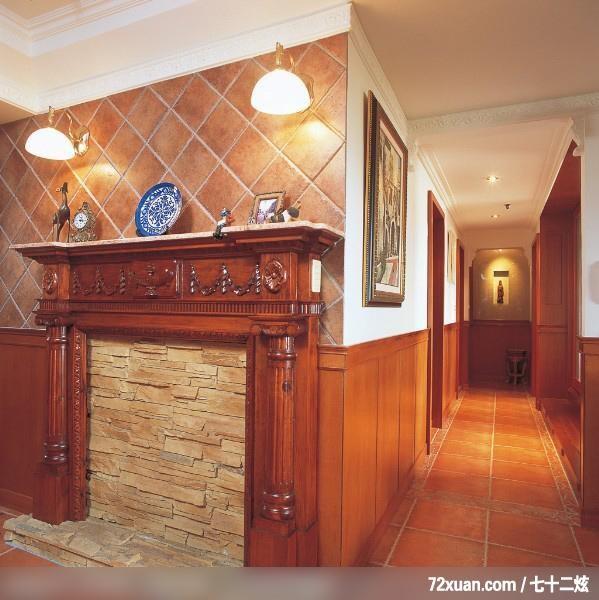 采荷_06_高雄三民区,觐得空间设计,游淑慧,走道,造型壁炉,造型天花板