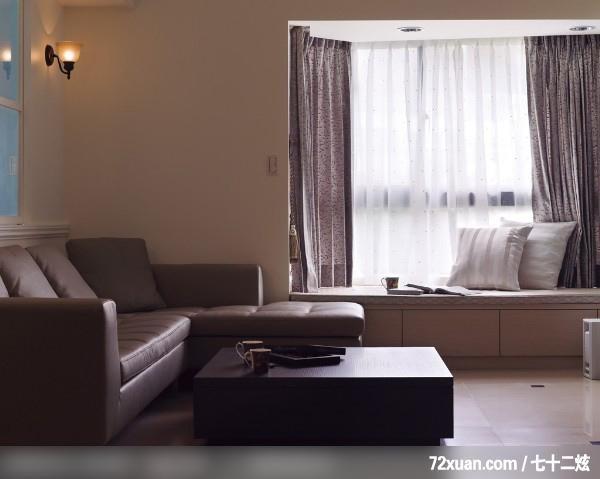 春雨_25_北县,艺堂室内设计,李燕堂,客厅,观景沙发座,造型灯光,观景窗
