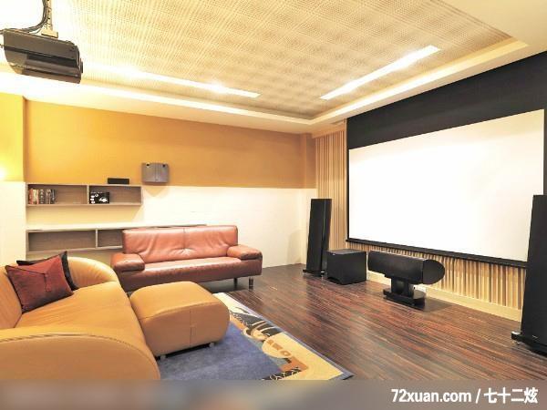 奢华的自然景观,墨比雅设计团队,王思文,客厅,投影幕布设计,造型沙发