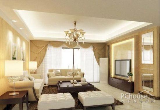 欧式公寓客厅电视背景墙 (3/9)图片