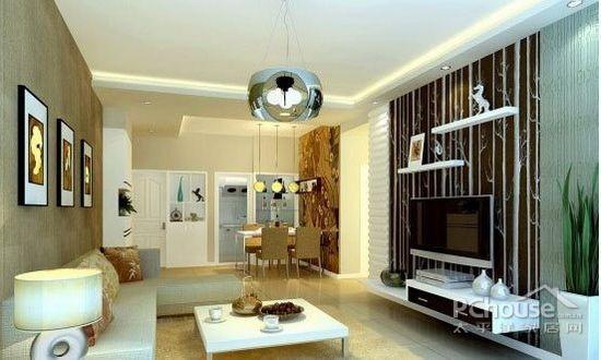 欧式公寓客厅电视背景墙 (1/9)图片