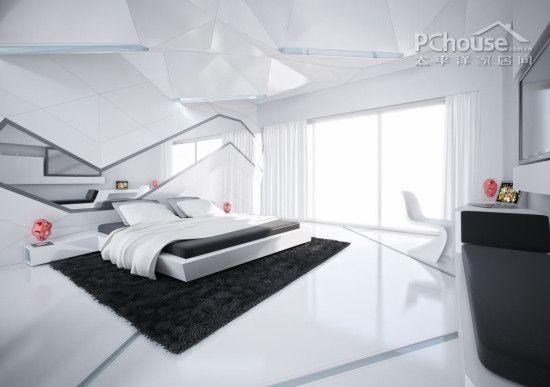15款大户型黑白室内设计装修效果图