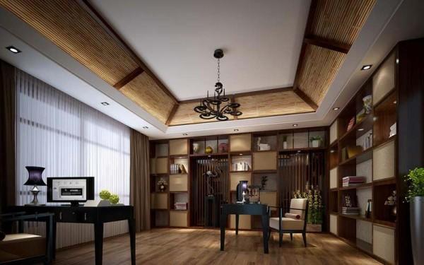 中式书房装修效果图六 (1/6)图片