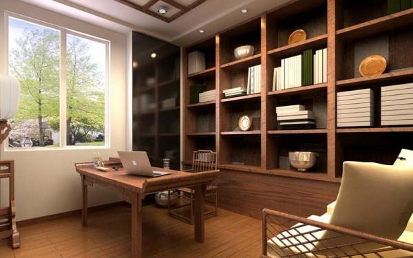 中式书房装修效果图装修效果图图片
