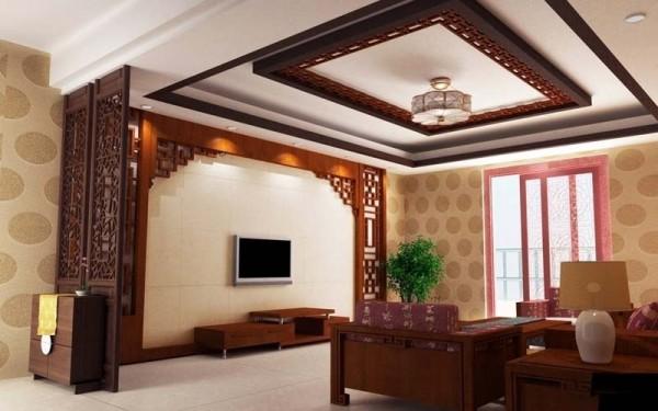 中式客厅装修效果图十二 (2/5)图片