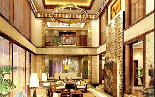 龙岗别墅样板房-欧式风格装修效果图图片