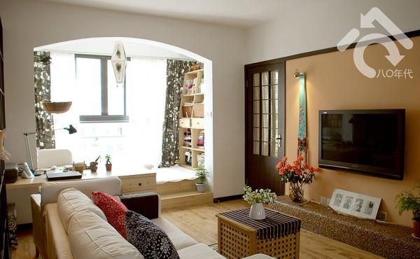上海88平2居室老房子翻新装修效果图