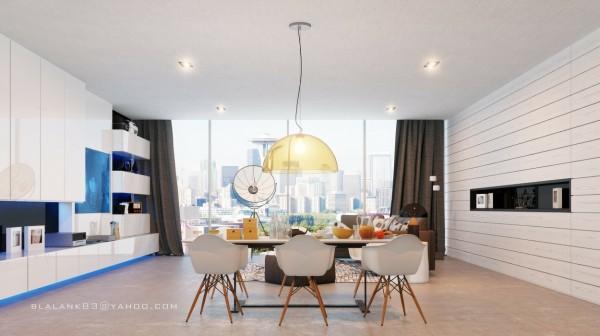 130平米三室两厅两卫餐厅吊顶装修效果图大全2012