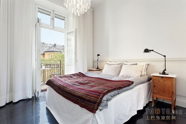 北欧风格80平米小户型婚房卧室装修效果图大全2012图