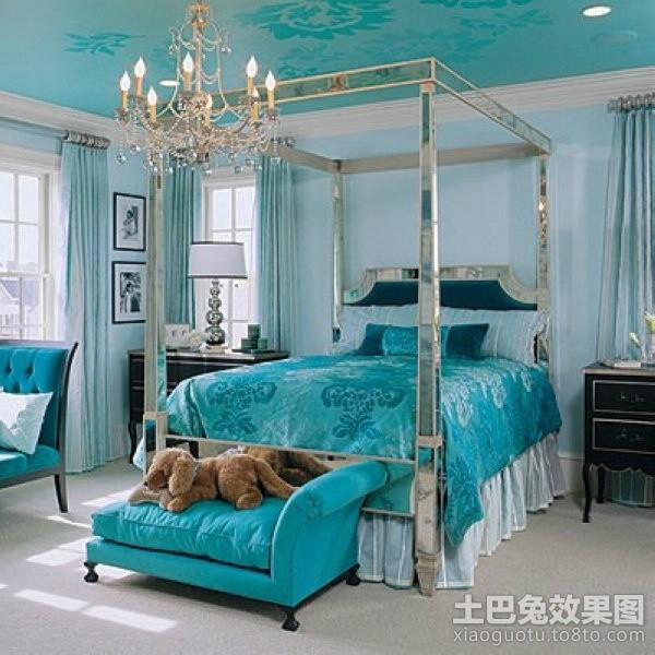 蓝色地中海风格小户型卧室装修效果图大全2012图片 (4/4)