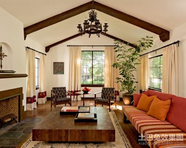 90平二居室客厅吊顶装修效果图大全2012图片 (3/3)